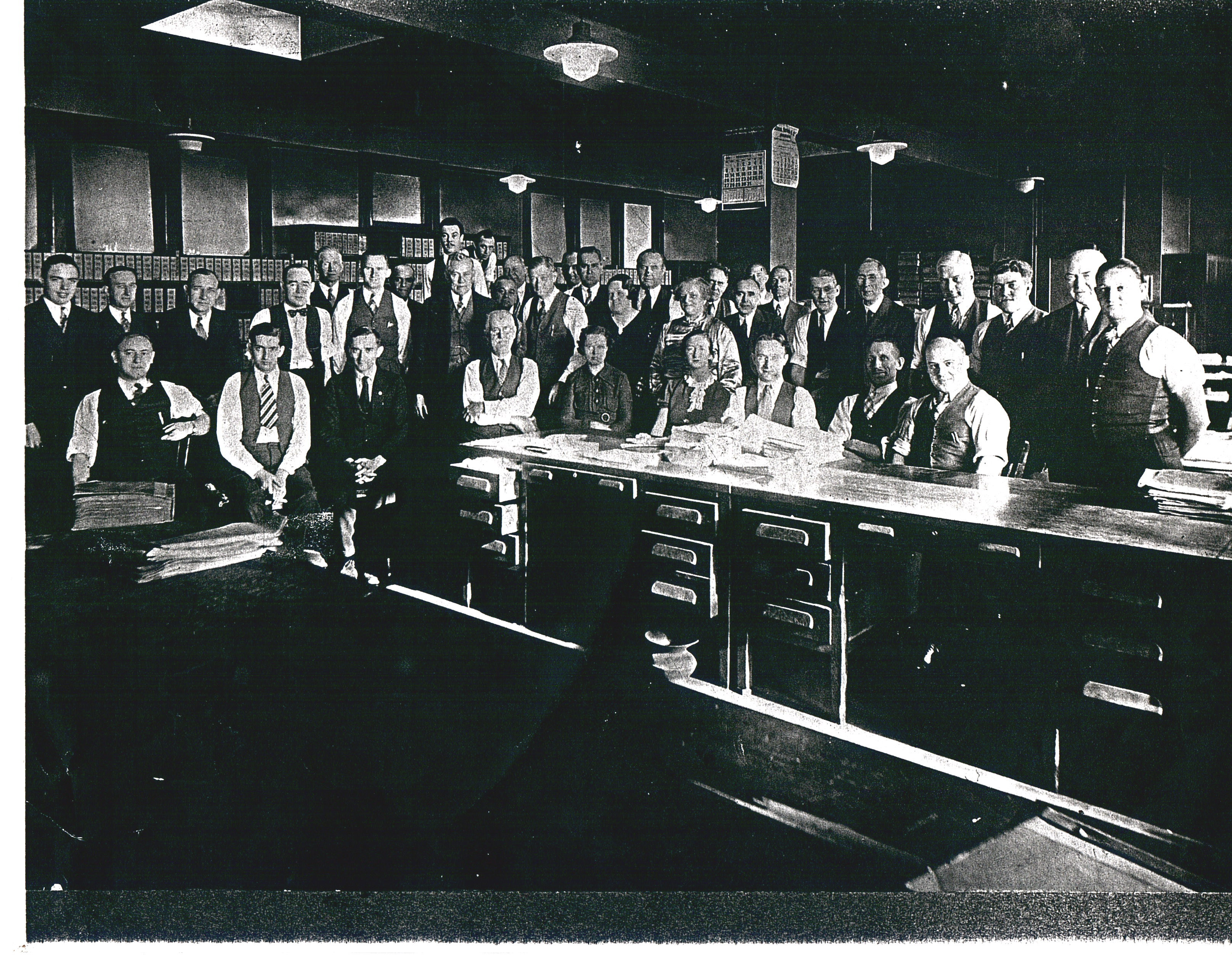 Ed (~35-40 years) with coworkers at the CNJ Railroad Headquarters in Elizabeth