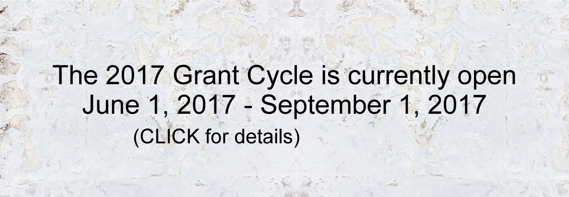 2017 Grant Cycle is Open